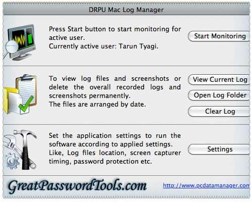 Keylogger for Mac OS X screenshot